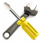 picture of xxl  - Vector wrench and screwdriver XXL icon - JPG