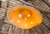 Ceiling Lamp In Country Style. Ceiling Lamp For Country Interior Design Room poster