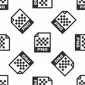 Grey Png File Document Icon. Download Png Button Icon Isolated Seamless Pattern On White Background. poster