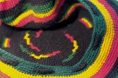 pic of rastaman  - full frame background showing a colorful woolen knitted rasta cap