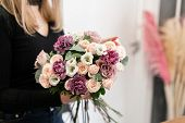 Master Class On Making Bouquets. Summer Bouquet. Learning Flower Arranging, Making Beautiful Bouquet poster