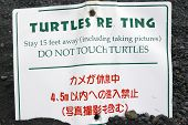 Warning Sign For Tourists poster