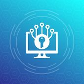 Encryption And Cyber Protection Vector Icon, Eps 10 File, Easy To Edit poster