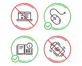Do Or Stop. Instruction Info, Web Lectures And Computer Mouse Icons Simple Set. Call Center Sign. Pr poster