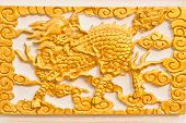 pic of chinese unicorn  - Golden dragon - JPG