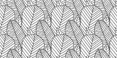 Beautiful Vector Seamless Pattern Made Of Monochrome Feathers And Leaves In White And Gray Colors. R poster