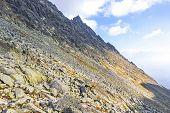 Hiking In High Tatras Mountains, Slovakia. Bystra Lawka, Ridge Above The Mlynicka Valley And Furkots poster