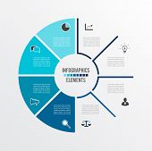 Vector Illustration Infographics. Business Concept With 8 Options. For Content, Diagram, Flowchart,  poster
