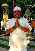 foto of dua  - Balinese man wearing traditional attire in Nusa Dua - JPG