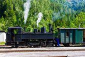 steam locomotive, Lunz am See, Lower Austria, Austria poster