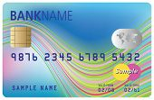Bank card template (colorful design of bank credit card)) poster