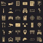 Padlock Icons Set. Simple Style Of 36 Padlock Vector Icons For Web For Any Design poster