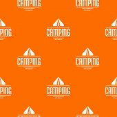 Best Camping Pattern Vector Orange For Any Web Design Best poster