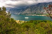 Bay Of Kotor From The Heights. View From Mount Lovcen To The Bay. View Down From The Observation Pla poster