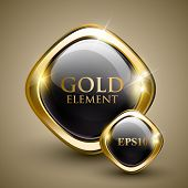 stock photo of conduction  - Golden shiny modern element - JPG