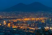 Port Of Naples At Night