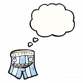 happy underpants with thought bubble