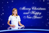 Anchorwoman Greeting Card