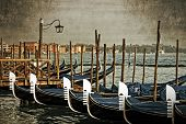 picture of tarp  - Gondolas on the Grand Canal Venice Italy - JPG