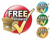 stock photo of ship  - A free shipping icon in four different colors to choose from - JPG