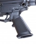 stock photo of ar-15  - Pistol grip and trigger that are on an AR - JPG
