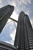 stock photo of petronas twin towers  - A fish eye shot describes the Twin Towers - JPG