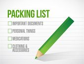 Package List Check Mark List Illustration