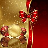 stock photo of yule  - Background with stars and Christmas balls - JPG