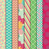 stock photo of chevron  - Vector Collection of Bright and Colorful Backgrounds or Digital Papers - JPG