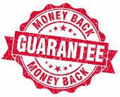 Money Back Guarantee Grunge Red Stamp