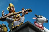 foto of saraswati  - Saraswati Goddess of Learning and Music ( Veerama Kaliamman Temple )
