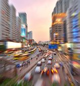 City Traffic at Night - Soft Focus with Motion Blur