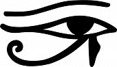 stock photo of sun god  - Vector illustration of the Egyptian Eye of Horus - JPG