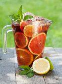 foto of sangria  - Refreshing fruit sangria  - JPG