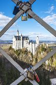 Castle Neuschwanstein With Padlocks