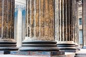 Colonnade Known Kazan Cathedral In St. Petersburg poster