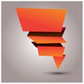 Abstract origami vector banner, vector illustration