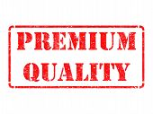 Premium Quality -  Red Rubber Stamp.