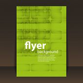 Flyer or Cover Design - Squares Pattern Background