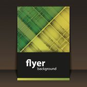 Flyer or Cover Design with Abstract Pattern