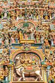 stock photo of meenakshi  - Detail of temple in Meenakshi Amman Complex  - JPG
