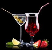pic of pina-colada  - alcohol cocktail set with tasty summer fruits - JPG