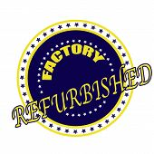 picture of rebuilt  - factory refurbisher grunge stamp whit on vector illustration - JPG