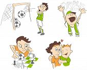 picture of caricatures  - Football  - JPG