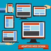 picture of smart grid  - Modern responsive and adaptive web design and mobile apps - JPG