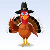 stock photo of thanksgiving  - Happy Thanksgiving Turkey - JPG