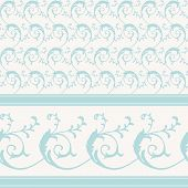 foto of scrollwork  - Vintage decorative scrollwork pattern and border - JPG