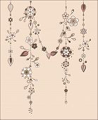 pic of windchime  - Illustration of Decorative Wind Chimes with floral ornament design - JPG
