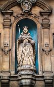 foto of fleet  - Photo of Queen Elizabeth I statue situated outside the St Dunstan in the West church in Fleet Street London UK.