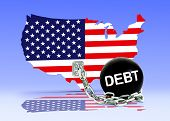 pic of ball chain  - American Map and Debt Ball with chain - JPG